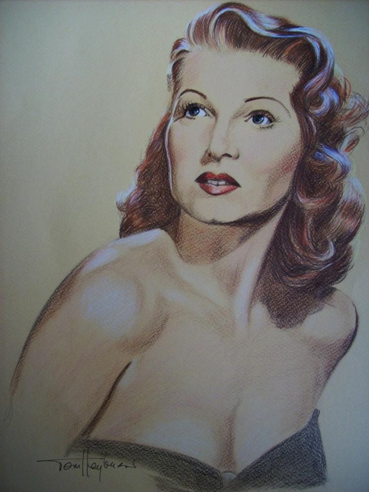 Rita Hayworth par Tom-Heyburn
